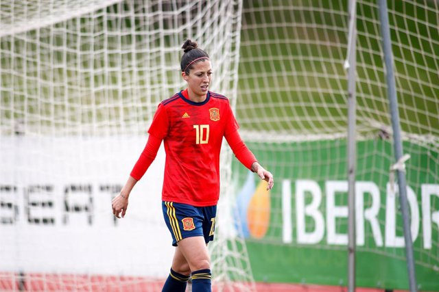 Jennifer Hermoso, player of Women's Spain Team, during the training day of the Women Spain Team at Ciudad del Futbol of Las Rozas on November 07, 2019, in Madrid, Spain.