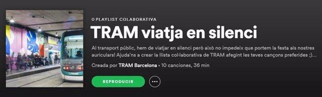 Tram crea una llista musical col·laborativa per promoure el silenci durant els viatges