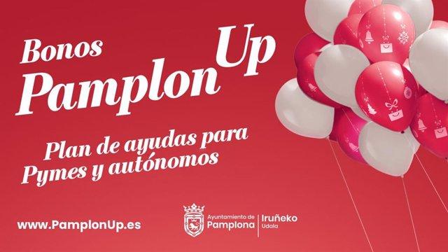 Cartel de la campaña de bonos 'PamplonUP'