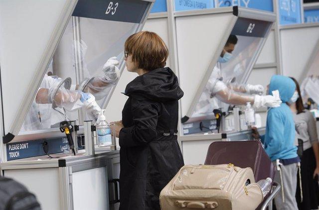Pruebas de coronavirus en el Aeropuerto de Ben Gurion