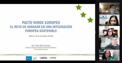 El Pacto Verde Europeo marca el webinar organizado por el Centro de Información Europea de la Diputación de Huelva