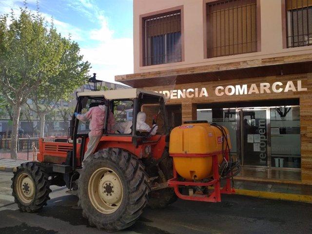 Desinfección en la residencia Recopema de Vélez-Rubio (Almería)