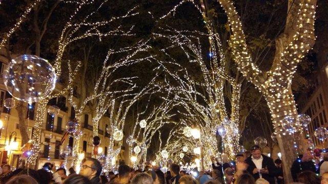 Luces de Navidad de Palma, en 2017.