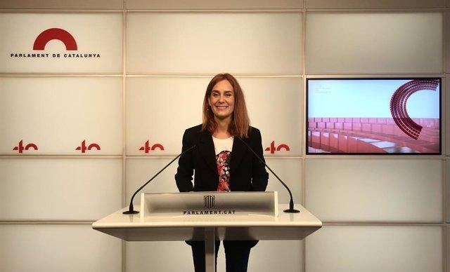 La líder dels comuns al Parlament, Jéssica Albiach.