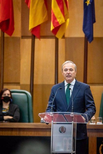 El alcalde de Zaragoza avanza que pedirá un 14% de las ayudas europeas para los ayuntamientos