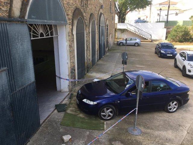 Autocovid en las instalaciones de la Feria de Muestras del ayuntamiento de Valverde del Camino (Huelva).