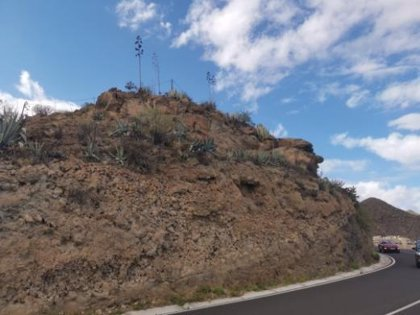 El Cabildo de Tenerife destina 280.000 euros a la estabilización de taludes en la carretera de Los Campitos