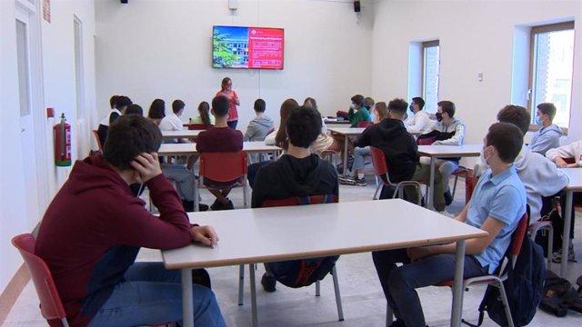 Imágenes de un aula de Bachillerato de la Escuela Ideo de Madrid
