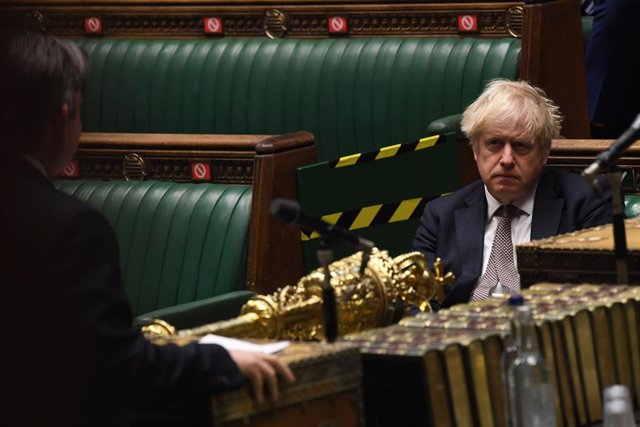 26 November 2020, England, London: UK Prime Minister Boris Johnson  attends the British Parliament session on Coronavirus (Covid-19) updates at the House of Commons.. Photo: Jessica Taylor/Uk Parliament via PA Media/dpa