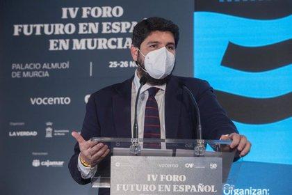 """López Miras defiende el mantenimiento del Tajo-Segura """"sin fecha de caducidad"""""""