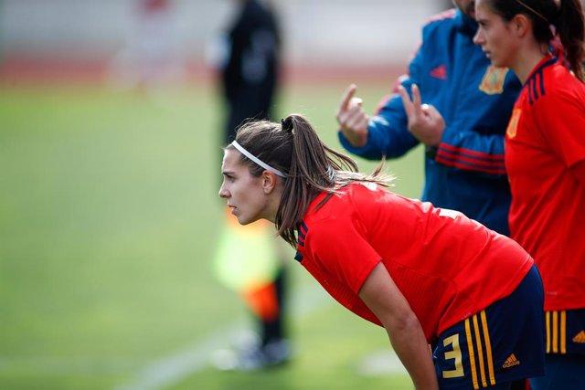 Marta Cardona, player of Women's Spain Team, during the training day of the Women Spain Team at Ciudad del Futbol of Las Rozas on November 07, 2019, in Madrid, Spain.