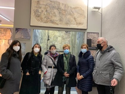 """La pintura mural """"Magdalena penitente"""" vuelve restaurada al Museo-Palacio de los Lazarraga en Zalduondo (Álava)"""