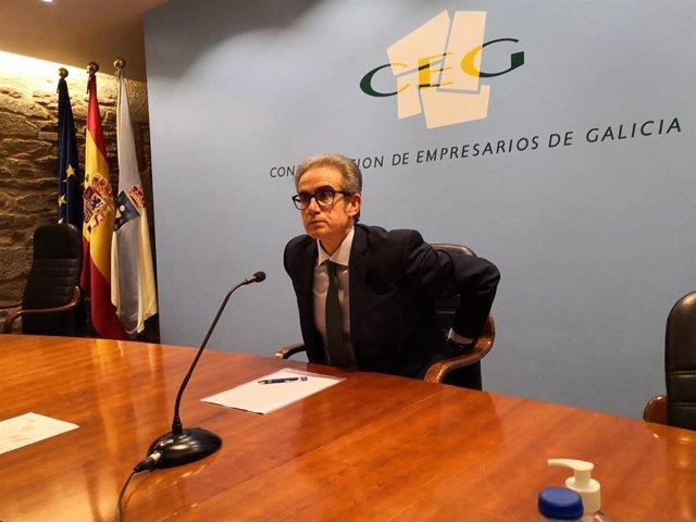 El nuevo presidente de la CEG, José Manuel Díaz Barreiros