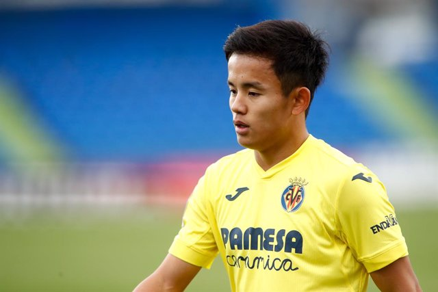 Takefusa Kubo of Villarreal looks on during the spanish league, La Liga Santander, football match played between Getafe CF and Villarreal CF at Coliseum Alfonso Perez stadium on November 8, 2020, in Getafe, Madrid, Spain.