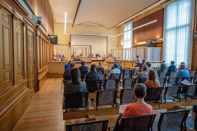 Imagen de archivo del interior de una sala de un tribunal belga.