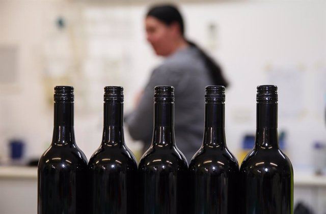 Imagen de archivo de vinos australianos.