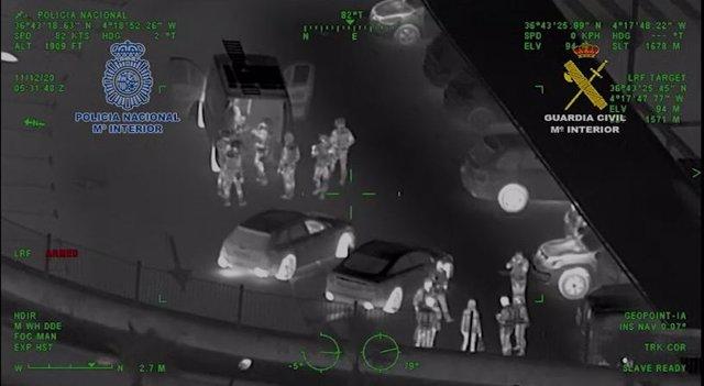 Operación de la Policía Nacional y Guardia Civil en Málaga