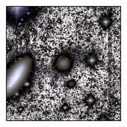 Datos del Hubble explican la pérdida de materia oscura en una galaxia