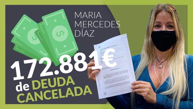 María Mercedes, ha cancelado todas sus deudas gracias a Repara tu Deuda