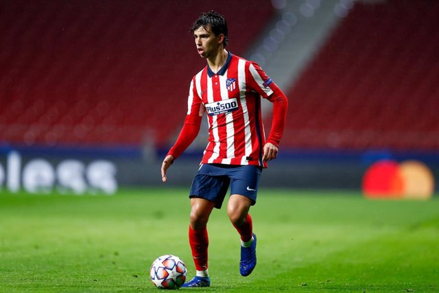 Joao Felix of Atletico de Madrid in action during the UEFA Champions League football match played between Atletico de Madrid and Lokomotiv Moskva at Wanda Metropolitano stadium on november 25, 2020, in Madrid, Spain