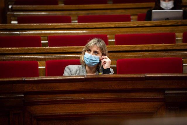 La consellera de Salut de la Generalitat, Alba Vergés, en una sessió de control al Parlament. Barcelona, Catalunya (Espanya), 4 de novembre del 2020.