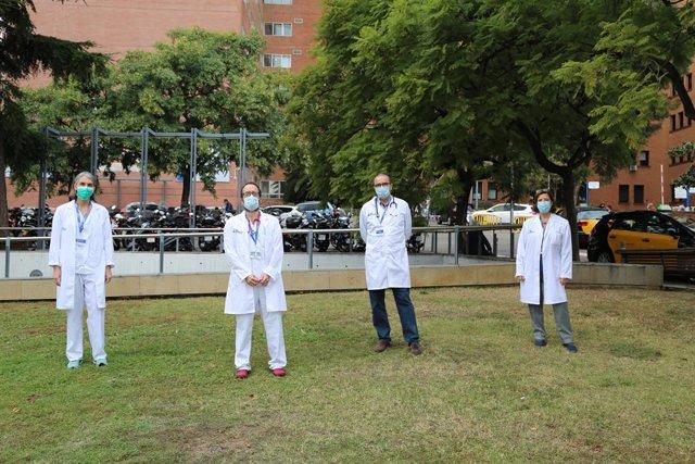 Investigadors de l'Hospital Vall d'Hebron que han fet l'estudi sobre la transmissió de la covid-19 entre els menors a Catalunya