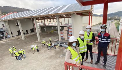 Las obras del Parque de Bomberos de Zalla concluirán en marzo de 2021 y estará operativo para el próximo verano