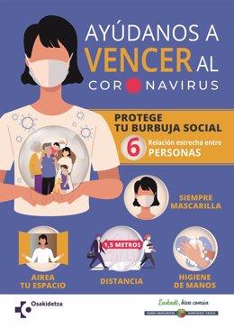 (AM) Cvirus.- Euskadi suma 46 muertes en la última semana e incrementa de nuevo los positivos, con 1.425 contagios más