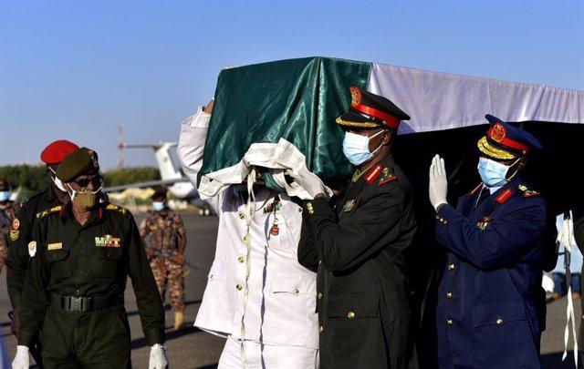 Funeral del ex primer ministro de Sudán Sadiq al Mahdi