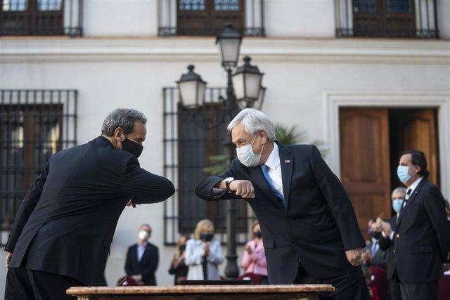 El presidente de Chile, Sebastián Piñera, y el ministro de Exteriores, Andrés Allamand.