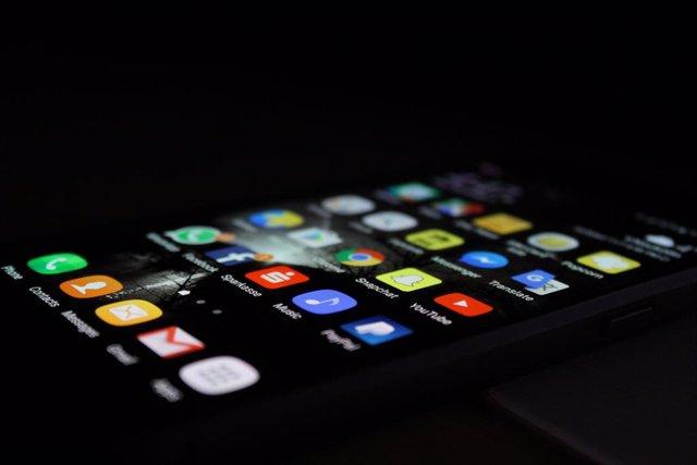 Apps en un móvil.