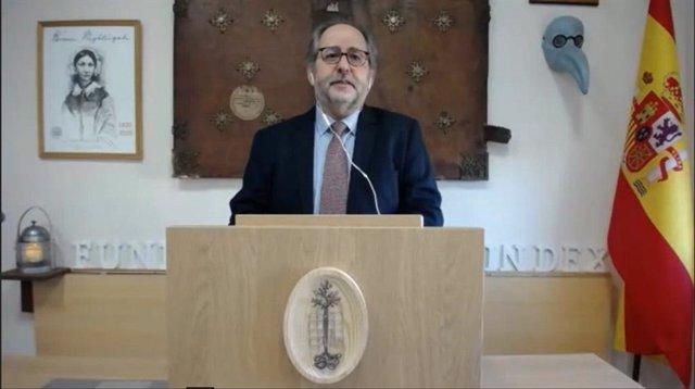 Manuel Amezcua de la Fundación Index en la inauguración oficial