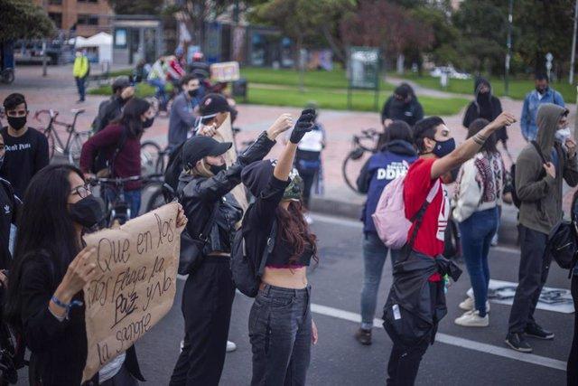 Manifestación contra los recientes asesinatos en varias regiones rurales de Colombia.