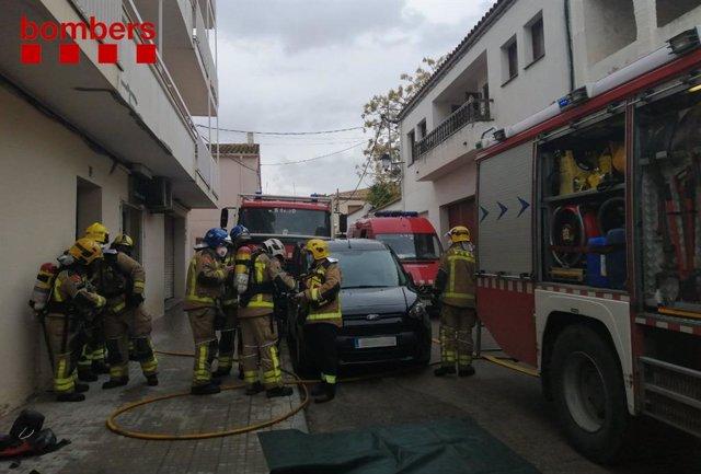 Mor una dona en l'incendi d'un pis a Castellví de la Marca