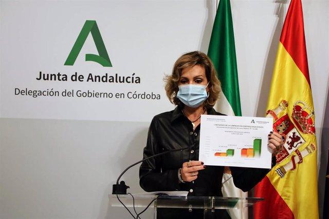 La delegada de Educación y Deporte de la Junta de Andalucía en Córdoba, Inmaculada Troncoso, presenta los presupuestos de Educación.
