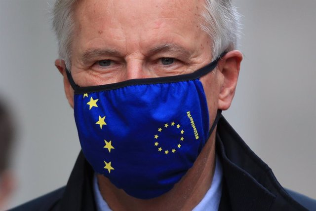 09 November 2020, England, London: European Commission's Head of Task Force for Relations with the United Kingdom Michel Barnier arrives in Westminster to attend meetings with the UK government, as efforts continue to strike a post-Brexit trade deal. Phot