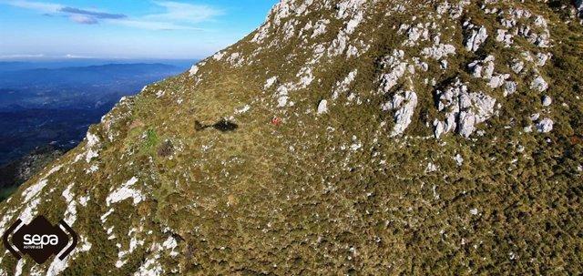 Rescate de montaña en Morcín.