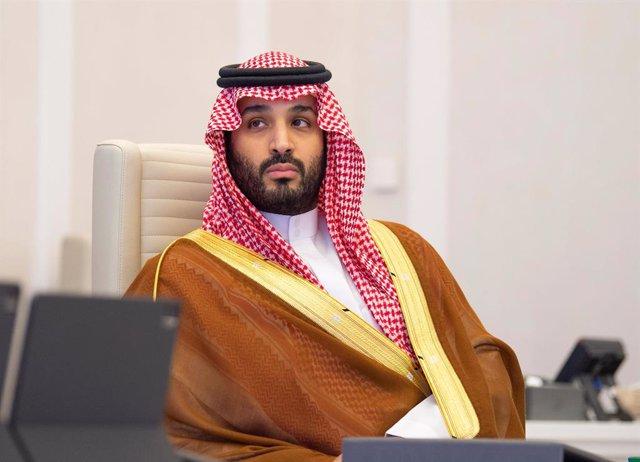 21 November 2020, Saudi Arabia, Riyadh: Saudi Crown Prince Mohammed bin Salman bin Abdulaziz Al Saud attends the G20 online summit. Photo: -/Saudi Press Agency/dpa