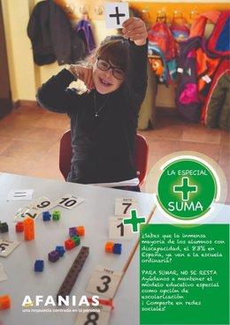 Imagen de la campaña de Afanias 'La Especial  Suma'