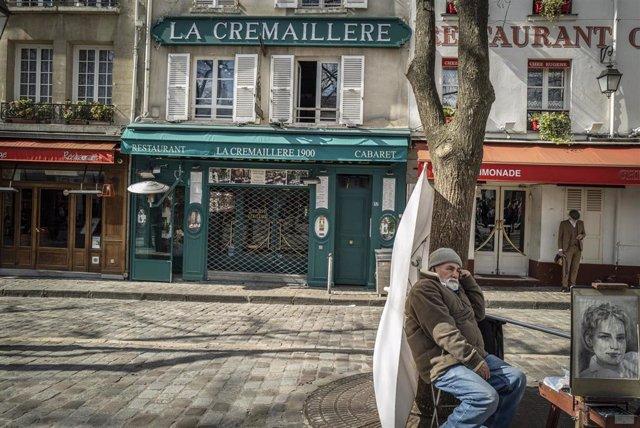 Calles vacías en Francia por el coronavirus