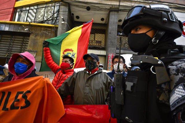 Imagen de archivo de protestas en Bolivia.