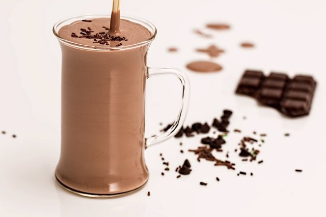 Batido de chocolate. Leche con chocolate