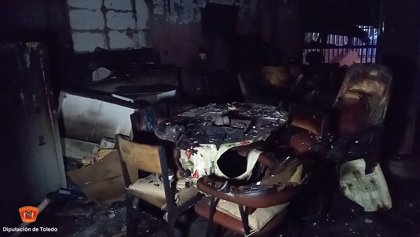 Fallece una mujer de 48 años por un incendio y heridos su marido y su hijo en Villafranca