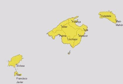 Baleares se encuentra este sábado en aviso amarillo por riesgo de lluvias y tormentas
