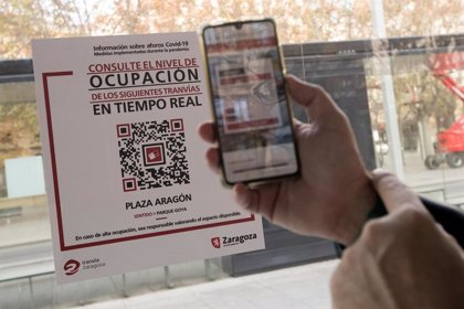 Usuarios de tranvía de Zaragoza ya pueden consultar el grado de ocupación de las expediciones que llegarán a su parada