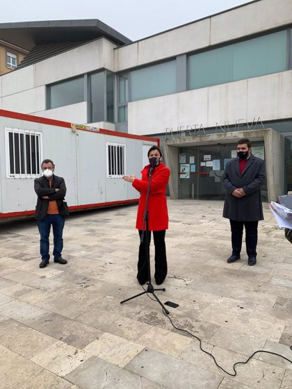 """Ana Sánchez critica que la Junta instale casetas de obra en centros de salud con el eufemismo de """"módulos climatizados"""""""
