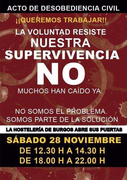 Un total de 121 bares de Burgos abre este sábado para protestar contra las restricciones