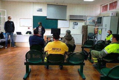 Junta aplaude el trabajo de Infoca y agentes de Medio Ambiente ante la bajada del 84% de masa forestal quemada en Jaén