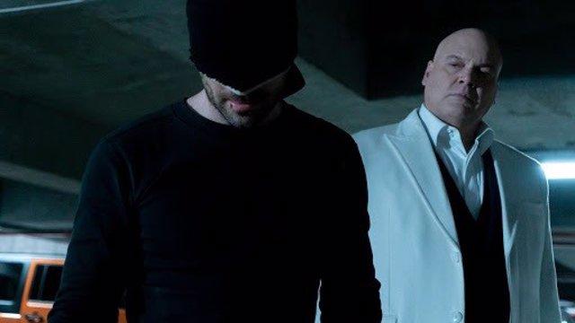 Kingpin y Daredevil en la serie de Netflix