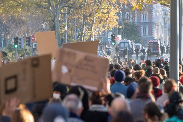 Protestas contra la Ley de Seguridad Integral